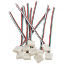 10pcs 3Pin 10mm LED Strip Solderless WS2811 2812 Connector Adapter Conductor