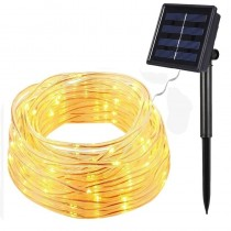 50Leds 7M Solar LED String Lights Colorful Rope Tube Holiday Party Lighting