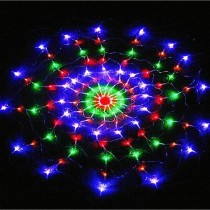 1.2M 120Leds 8 Modes Colorful Spider Web Led Fairy String Festival Party Net Lights