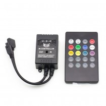DC 12V 24V 2A 3CH 72W LED Music Controller With RF Remote Control