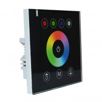 12V 24V 4A 4CH Wall Mounted Acrylic LED RGBW Touch Panel Controller
