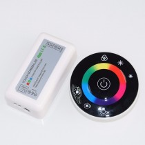 LED Touch Round RGB Controller DC12V 24V 18A With RF Remote