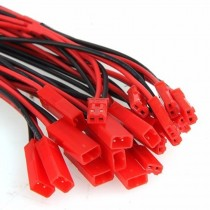 20 Pairs 10mm 150mm JST Connector Plug Cable Male+Female