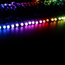 WS2811 Diffused RGB LED Pixels Light Round 25.6ft DC12V 12mm Waterproof