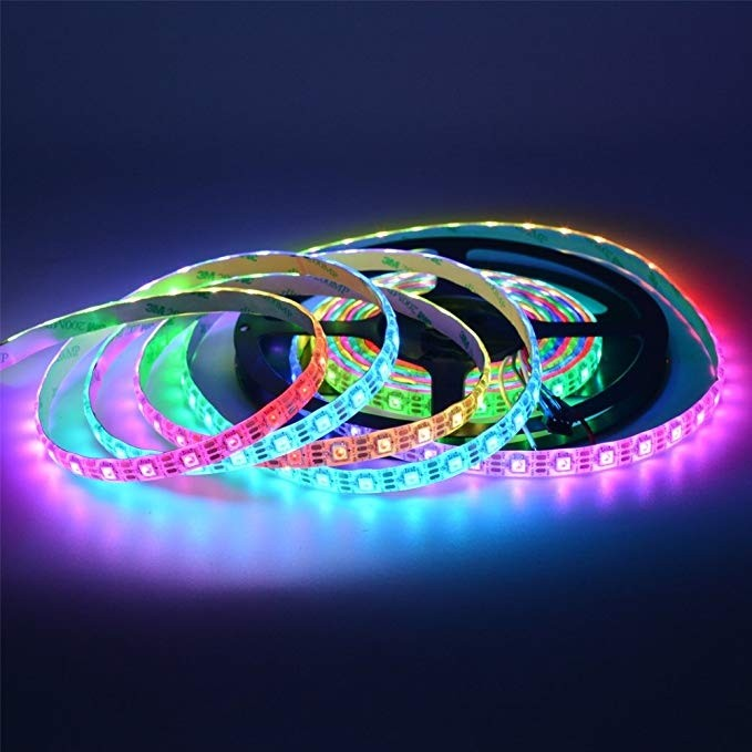 5M SK6812 5050 RGB LED Pixel Strip 60LEDs/M Individually Addressable DC 5V
