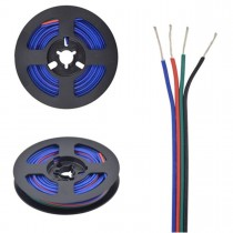 32.8ft 4pin 22AWG RGB LED Extension Cable Antioxidant Tin Plated Copper Wire