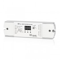 1CH 12A Constant Voltage DMX512 RDM Decoder D1-L For Single Color LED Strip Lights
