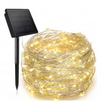 Copper Wire LED Solar String Light 10M 20M Fairy Lights Waterproof Lamp