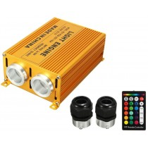 AC110-265V Double Head 32W RGB Fiber Optic Light Engine With 24 Key IR Remote Controller