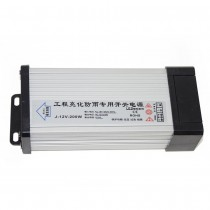 DC12V 200W Outdoor Rainproof LED Driver Adapter Lighting Transformer
