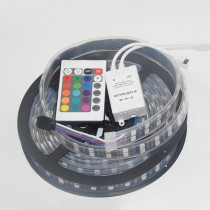 Black PCB 5050 RGB Led Strip 120LED/M 600LED 12V Waterproof + Controller