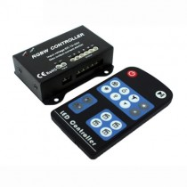 DC 12V 24V 16A Brightness Speed Mode Adjust LED Controller With RF Remote