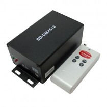DC5V 12V Wireless SD Card DMX Signal Transmitter With Remote Control