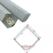 1M Led Corner Recessed Aluminum Channel Profile 20pcs