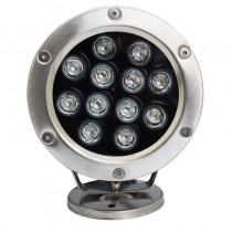 12W Pond Led Underwater Light Spotlight Swimming Pool Fountain Submersible Floodlight